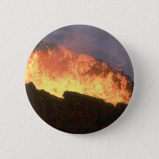 Chapa Redonda De 5 Cm resplandor del fuego volcánico