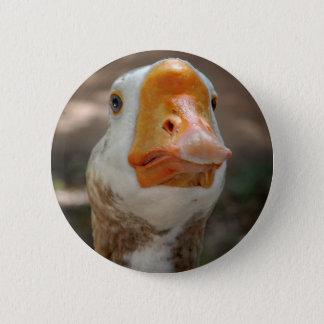 Chapa Redonda De 5 Cm Retrato del ganso