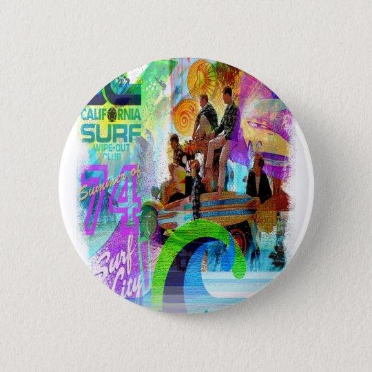 Chapa Redonda De 5 Cm Retro Surfing Badge
