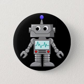 Chapa Redonda De 5 Cm Robot Freak