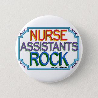 Chapa Redonda De 5 Cm Roca de los ayudantes de la enfermera