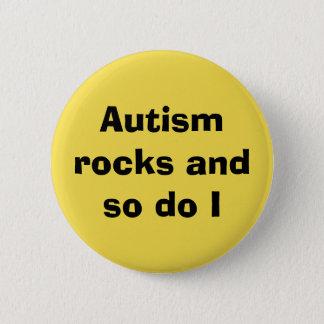 Chapa Redonda De 5 Cm Rocas del autismo de la conciencia del autismo de