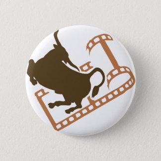 Chapa Redonda De 5 Cm Rollo de película Bucking de Bull