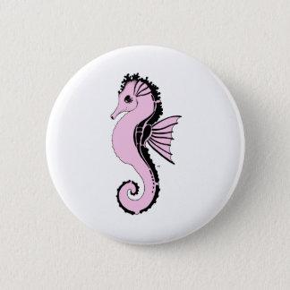 Chapa Redonda De 5 Cm rosa del seahorse