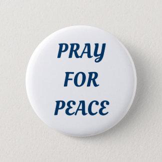 Chapa Redonda De 5 Cm Ruegue para la paz