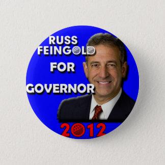 Chapa Redonda De 5 Cm Russ Feingold para el gobernador 2012