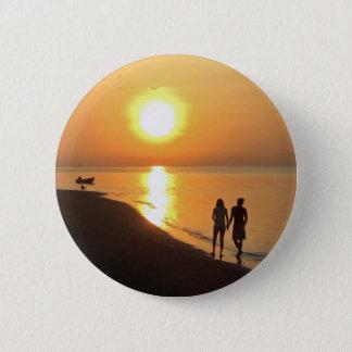Chapa Redonda De 5 Cm Salida del sol de Bali en la playa