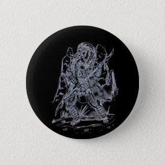 Chapa Redonda De 5 Cm Samurai elemental del aire