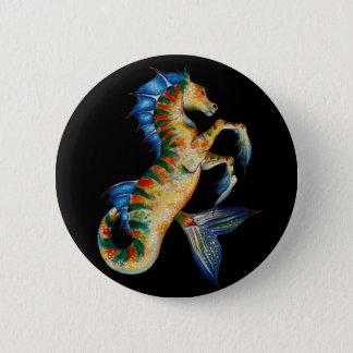 Chapa Redonda De 5 Cm seahorse en negro