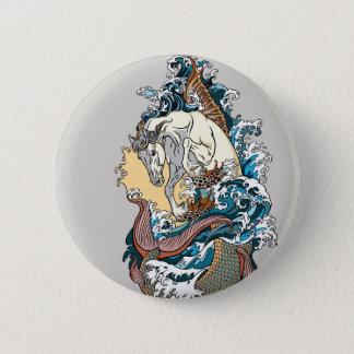 Chapa Redonda De 5 Cm seahorse mitológico