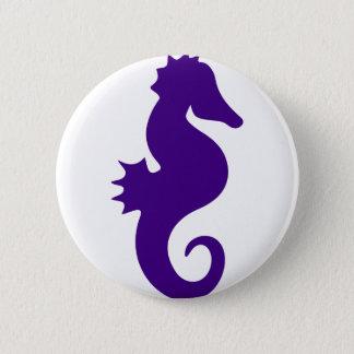 Chapa Redonda De 5 Cm Seahorse púrpura