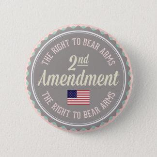 Chapa Redonda De 5 Cm Segunda enmienda