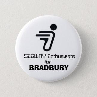 Chapa Redonda De 5 Cm SEGWAY, entusiastas, para, BRADBURY