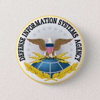 Chapa Redonda De 5 Cm Sello del Defense Information Systems Agency