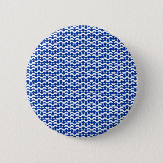 Chapa Redonda De 5 Cm semi mosaico del azul del círculo