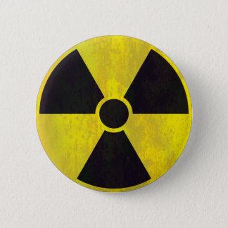 Chapa Redonda De 5 Cm Señal de peligro radiactiva