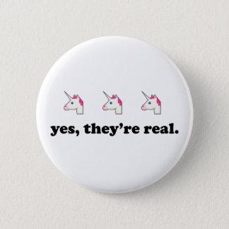 Chapa Redonda De 5 Cm Sí, son unicornio el | divertido real Emoji