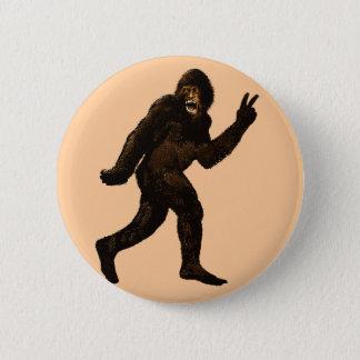 Chapa Redonda De 5 Cm Signo de la paz de Bigfoot