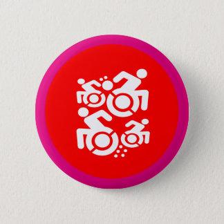 Chapa Redonda De 5 Cm Silla de ruedas como arte