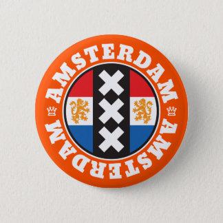 Chapa Redonda De 5 Cm Símbolo de la ciudad de Amsterdam XXX con la