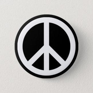Chapa Redonda De 5 Cm Símbolo de paz blanco