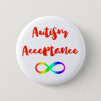 Chapa Redonda De 5 Cm Símbolo del infinito de la aceptación del autismo