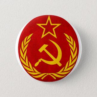 Chapa Redonda De 5 Cm símbolo del ruso del comunismo