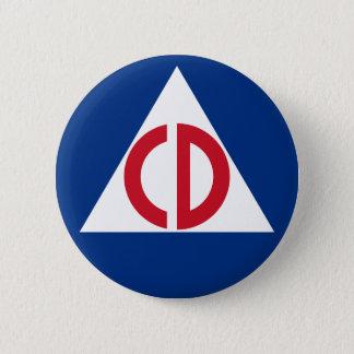 Chapa Redonda De 5 Cm Símbolo del vintage del logotipo de la defensa