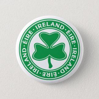 Chapa Redonda De 5 Cm Símbolo gaélico del trébol de Irlanda Éire