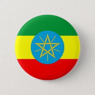 Chapa Redonda De 5 Cm símbolo largo de la bandera de país de Etiopía