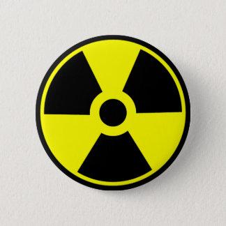 Chapa Redonda De 5 Cm Símbolo radiactivo del símbolo de la radiación