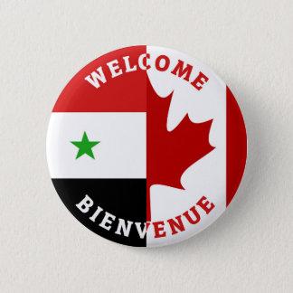Chapa Redonda De 5 Cm Sirios agradables de Bienvenida