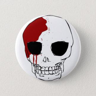 Chapa Redonda De 5 Cm Skullu de Kawaii