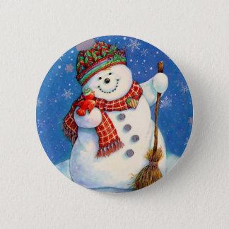 Chapa Redonda De 5 Cm snowman.jpg
