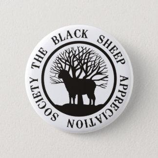 Chapa Redonda De 5 Cm Sociedad del aprecio de las ovejas negras