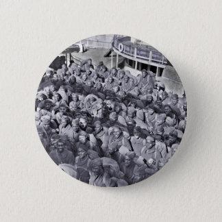 Chapa Redonda De 5 Cm Soldados negros de WWI en la nave de transporte