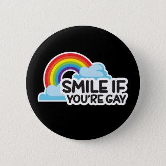 Chapa Redonda De 5 Cm Sonría si usted es orgullo gay del arco iris LGBT