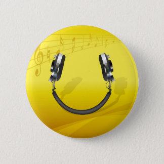 Chapa Redonda De 5 Cm Sonrisa del auricular