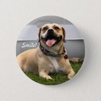 Chapa Redonda De 5 Cm ¡Sonrisa! ¡Es a Perro-en buen día!