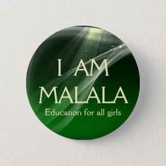 Chapa Redonda De 5 Cm Soy educación de Malala para todos los chicas