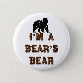 Chapa Redonda De 5 Cm Soy el oso de un oso