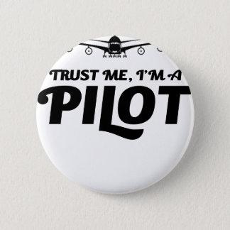 Chapa Redonda De 5 Cm Soy piloto