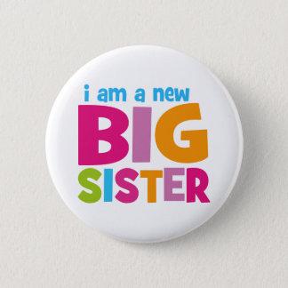 Chapa Redonda De 5 Cm Soy una nueva hermana grande