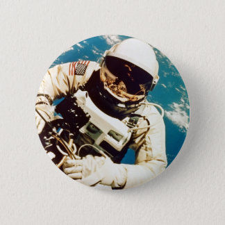 Chapa Redonda De 5 Cm Spacewalk del astronauta