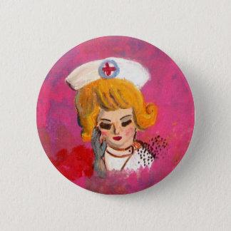 Chapa Redonda De 5 Cm Sueño de la enfermera