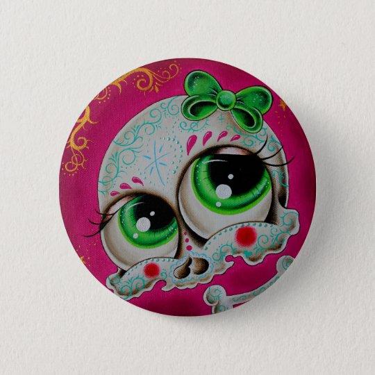 Chapa Redonda De 5 Cm Sugar skull button