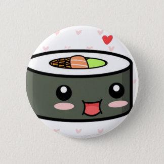 Chapa Redonda De 5 Cm Sushi de Kawaii