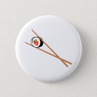 Chapa Redonda De 5 Cm Sushi y palillos