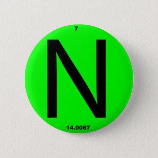Chapa Redonda De 5 Cm Tabla periódica de la letra N