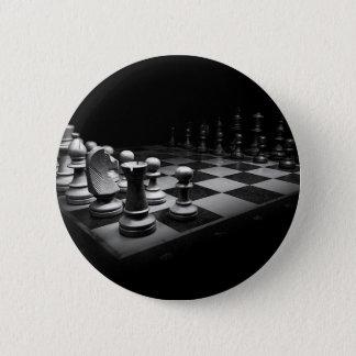 Chapa Redonda De 5 Cm Tablero blanco negro del rey ajedrez de los